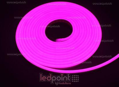 Foto de Led Neon Flex 6mm rosa 2835 12V 9,6W 120led/m IP65 5m
