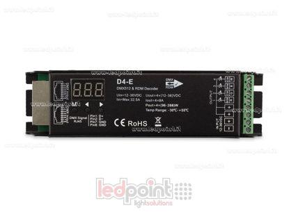 Foto de DMX 512 & RDM descodificador carril, 4 canales de 8A cada uno, tensión 12-36V DC