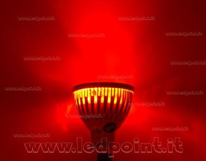 Foto de Foco 4x1W 12V AC/DC con casquillo  MR16 (GU5.3) luz roja