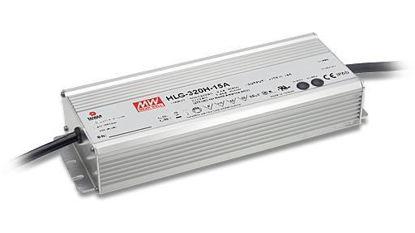 Foto de Fuente de alimentación Mean Well 320W 24V con entrada 1-10V IP67 (HLG-320-24B)