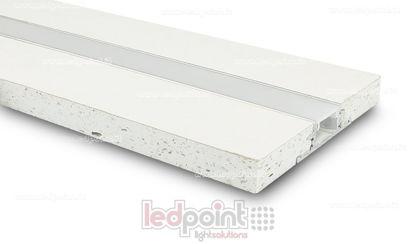 Foto de Perfil en aluminio con cartón yeso 44x12mm, 2 metros