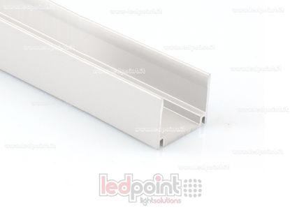 Foto de Barra de aluminio para fijar, 1m, para Led Neon Flex 17mm