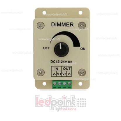 Foto de Dimmer manual para tiras de led, 12~24V 8A