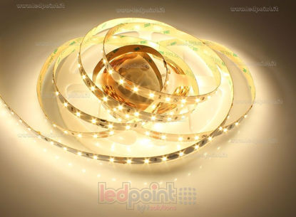 Foto de Tira de led 5m blanco cálido 2900-3000K 2835 70led/m Honglitronic 24V 14,4W/m Made in Italy