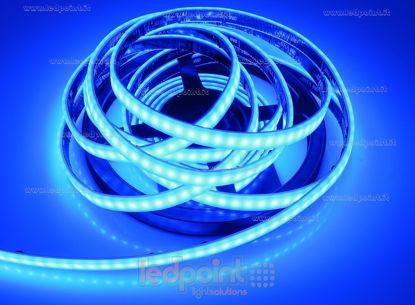 Foto de Tira de led 5m azul 2835 120led/m 24V 12W/m, IP67 silicona sólida azul