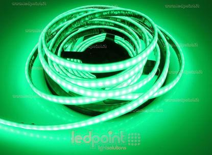 Foto de Tira de led 5m verde 2835 120led/m 24V 12W/m, IP67 silicona sólida verde