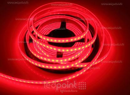 Foto de Tira de led 5m roja 2835 120led/m 24V 12W/m, IP67 silicona sólida roja
