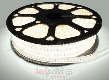 Foto de Tira led 30m blanco 4000-4250K 2835 120led/m 230V 15W/m, PCB blanco IP65 Honglitronic