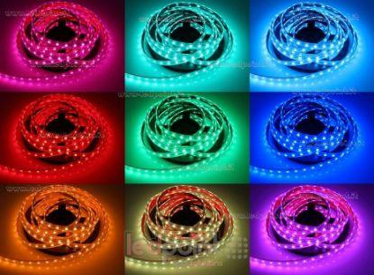 Foto de Tira de led 5m RGB 5050 60led/m Honglitronic 24V 14,4W/m, IP64 tubo de silicona extruído bordes llenos interior vacío