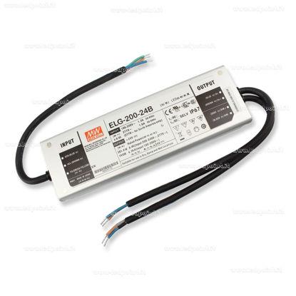 Foto de Fuente de alimentación Mean Well 200W 24V con entrada 0-10V IP67 (ELG-200-24B-3Y)