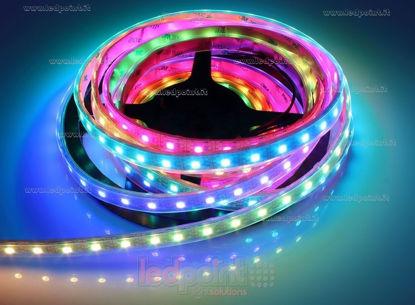 Foto de Tira led 5m Control RGB 5050 60 led/m IP64 5V 13W/m, IP64 tubo de silicona vacío