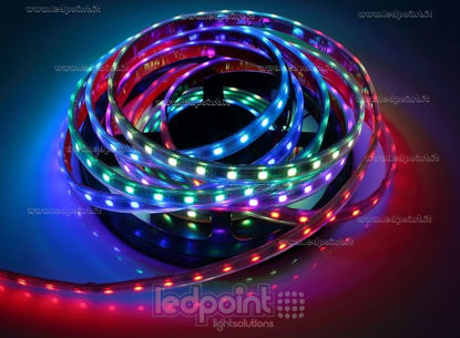 Foto de Tira de led 5m Controlador RGB 5050 60led/m 12V 13W/m, IP64 tubo de silicona extruído bordes llenos interior vacío