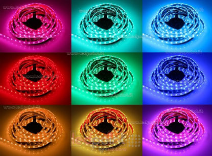 Foto de Tira de led 5m RGB 5050 60led/m Honglitronic 12V 14,4W/m, IP64 tubo de silicona extruído bordes llenos interior vacío