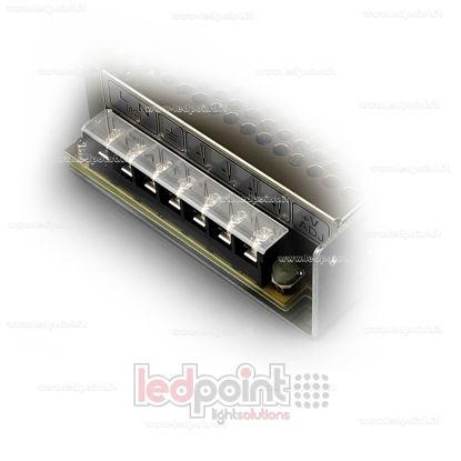 Foto de Cobertura de plástico para terminal de conexión para fuentes de alimentación Mean Well LRS-100 y LRS-150