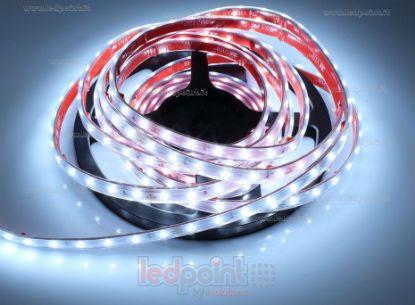 Foto de Tira de led 5m blanco frío 5500-6000K 2835 60led/m 24V 4,8W/m, IP64 tubo de silicona extruído bordes llenos interior vacío