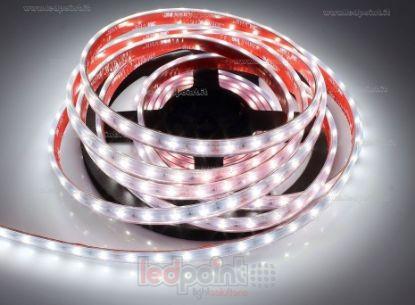 Foto de Tira de led 5m blanco 4000K 3step 2835 60led/m Honglitronic 24V 14,4W/m, IP64 tubo de silicona extruído bordes llenos interior vacío