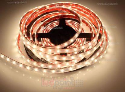 Foto de Tira de led 5m blanco cálido 3000K 3step 2835 60led/m 24V 4,8W/m, IP64 tubo de silicona extruído bordes llenos interior vacío