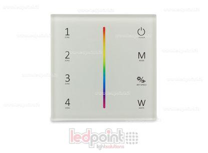 Foto de Mando de pared blanco RGB/RGBW 4 zonas RF2.4G