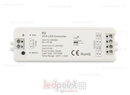 Foto de Controlador CCT 12-24V, 2ch*5A, RF 2.4G