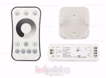 Foto de Kit mando + controlador monocromático con interruptor 5/36V, 1ch*8A, RF 2.4G