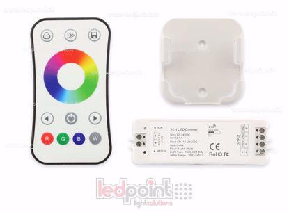 Foto de Kit mando + controlador RGB 12/24V, 3ch*4A, RF 2.4G