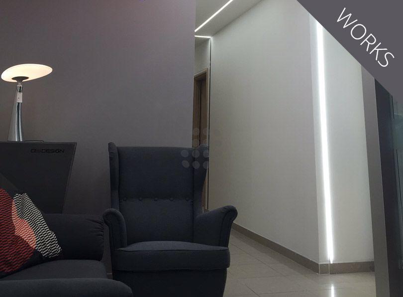 Iluminación de oficina