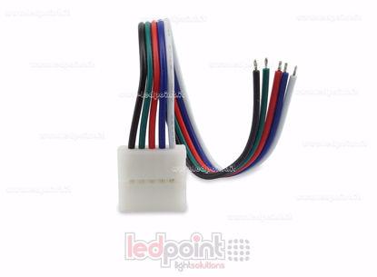Foto de Conector con cable de 14 cm, strip 12mm RGBW