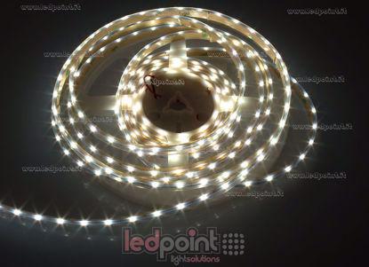 Foto de Tira de led 5m blanco 4000-4500K 3014 side led 60led/m 12V 4,8W/m, IP64 tubo de silicona más espeso, PCB 5mm